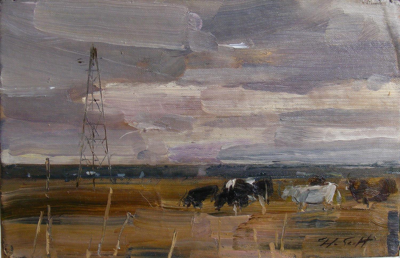 Cattle on High Marsh
