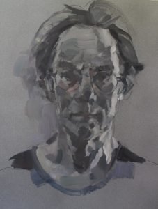 Study for self portrait with open neck