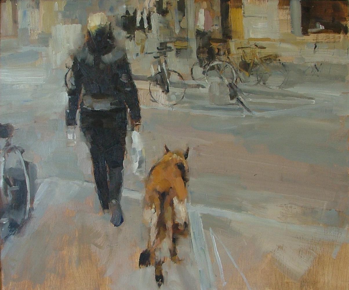 Woman and German Shepherd