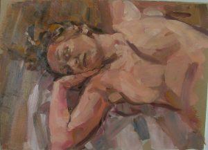 nude on towel